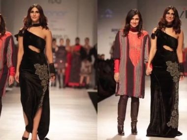 Vaani in BOLD CURVY Black Off- Shoulder Gown | AIFW A-W 2017 thumbnail